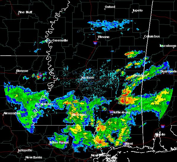 Radar Image for Severe Thunderstorms near Sandersville, MS at 8/21/2015 5:06 PM CDT