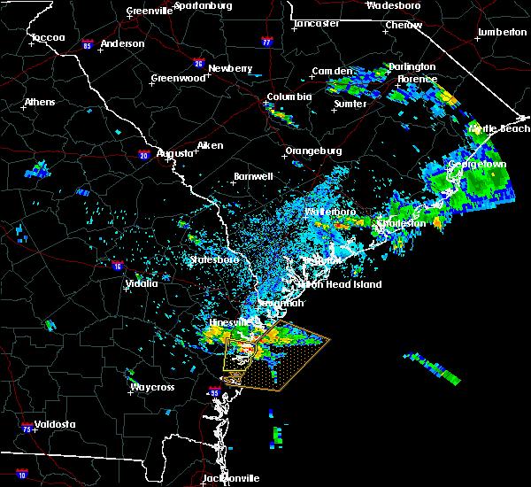 Radar Image for Severe Thunderstorms near Darien, GA at 8/21/2015 6:33 PM EDT