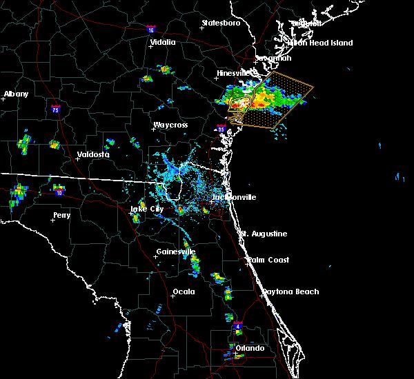Radar Image for Severe Thunderstorms near Darien, GA at 8/21/2015 7:12 PM EDT