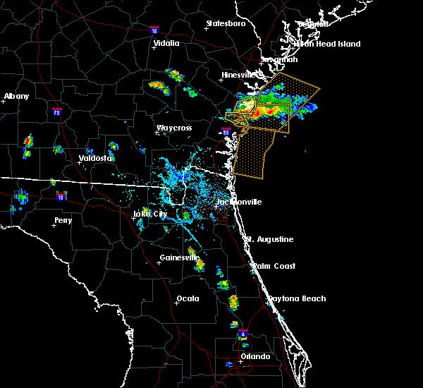 Radar Image for Severe Thunderstorms near Darien, GA at 8/21/2015 7:30 PM EDT