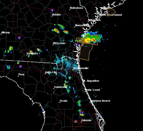 Radar Image for Severe Thunderstorms near Darien, GA at 8/21/2015 7:55 PM EDT