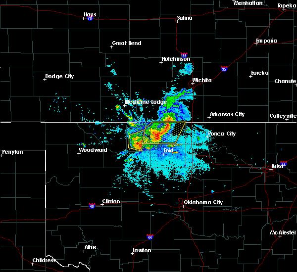 Radar Image for Severe Thunderstorms near Lambert, OK at 8/21/2015 9:50 PM CDT