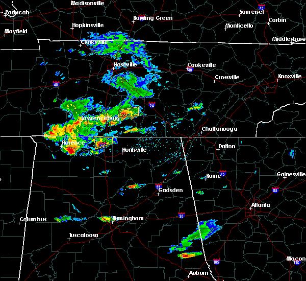Radar Image for Severe Thunderstorms near Shelbyville, TN at 8/22/2015 4:49 PM CDT