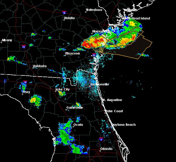 Radar Image for Severe Thunderstorms near Dock Junction, GA at 8/22/2015 7:47 PM EDT