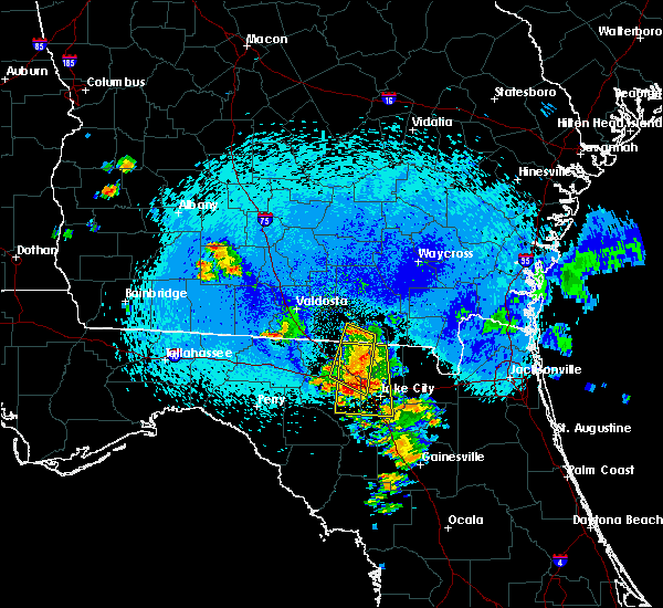 Radar Image for Severe Thunderstorms near Jasper, FL at 8/22/2015 11:13 PM EDT