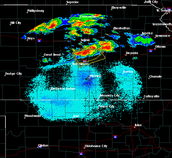 Radar Image for Severe Thunderstorms near Canton, KS at 8/22/2015 11:15 PM CDT