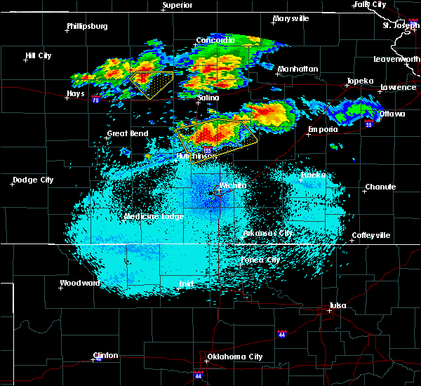 Radar Image for Severe Thunderstorms near Canton, KS at 8/22/2015 11:33 PM CDT