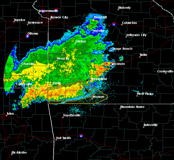 Radar Image for Severe Thunderstorms near Ozark, MO at 8/23/2015 5:04 AM CDT