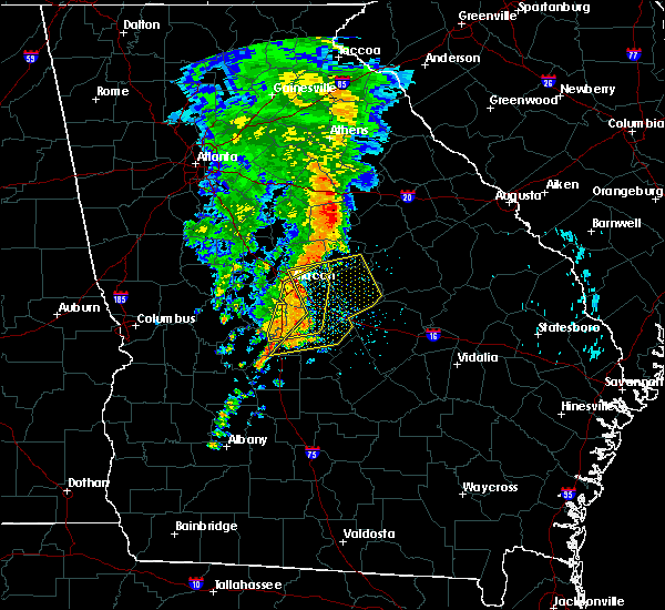 Radar Image for Severe Thunderstorms near Jeffersonville, GA at 8/23/2015 11:08 AM EDT