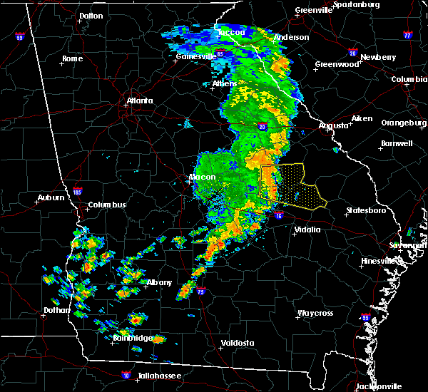 Radar Image for Severe Thunderstorms near Twin City, GA at 8/23/2015 12:48 PM EDT