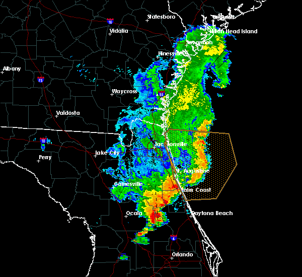 Radar Image for Severe Thunderstorms near Pierson, FL at 8/23/2015 7:56 PM EDT