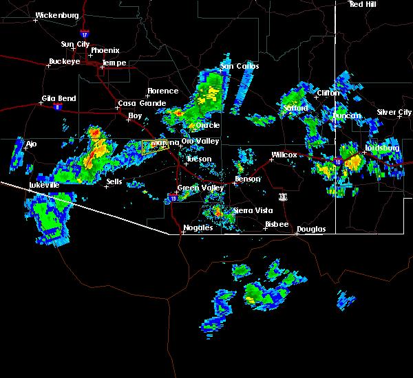 Radar Image for Severe Thunderstorms near Marana, AZ at 8/23/2015 7:16 PM MST