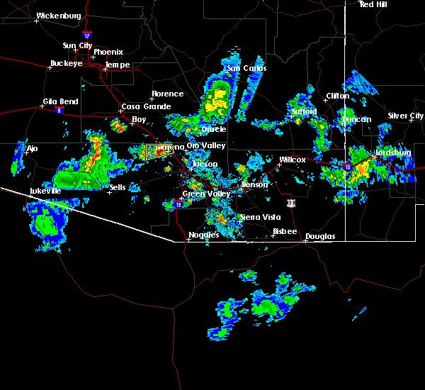 Radar Image for Severe Thunderstorms near Marana, AZ at 8/23/2015 7:31 PM MST