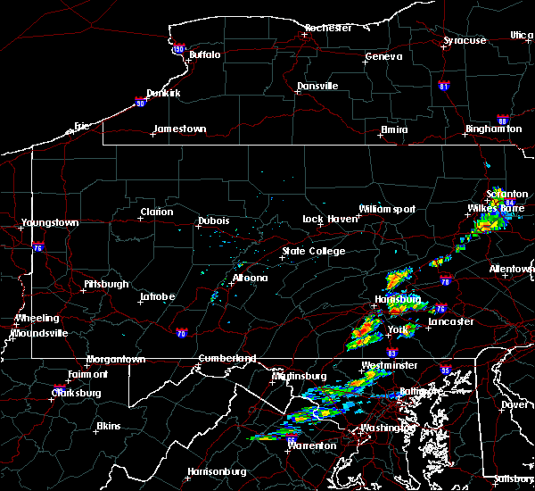 Radar Image for Severe Thunderstorms near Penryn, PA at 8/24/2015 4:54 PM EDT