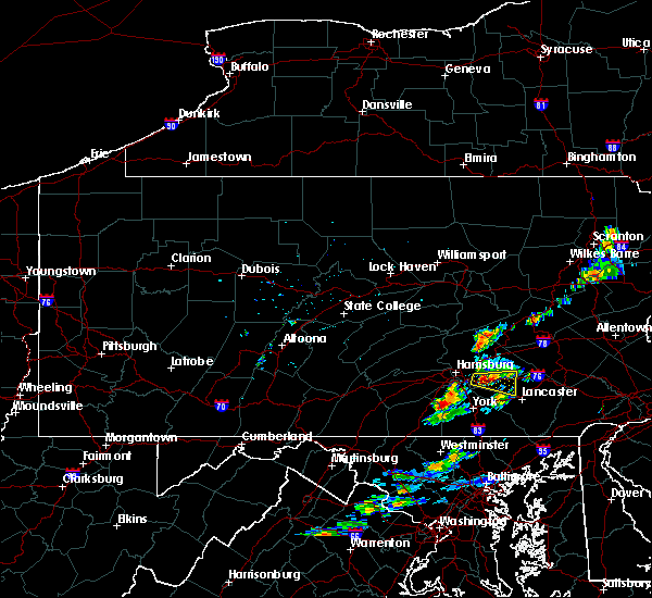 Radar Image for Severe Thunderstorms near Timber Hills, PA at 8/24/2015 5:18 PM EDT