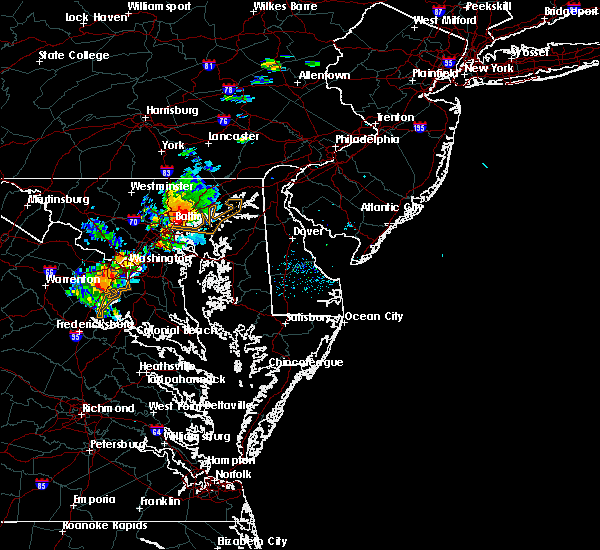 Radar Image for Severe Thunderstorms near Riverside, MD at 8/24/2015 7:41 PM EDT