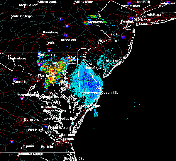 Radar Image for Severe Thunderstorms near Kent Narrows, MD at 8/24/2015 8:56 PM EDT