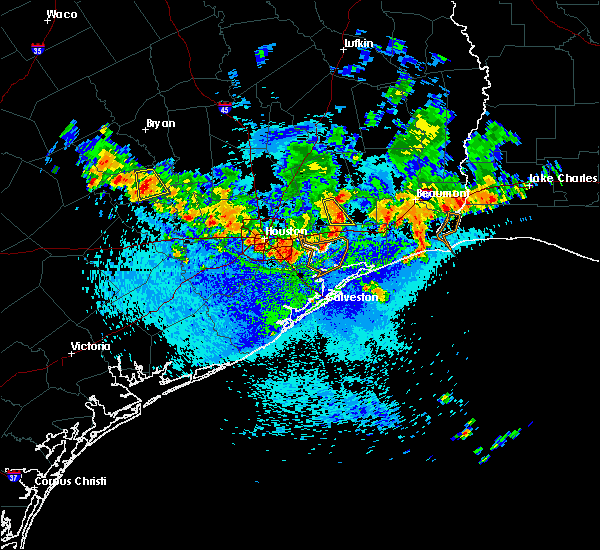 Radar Image for Severe Thunderstorms near Pasadena, TX at 8/25/2015 1:50 PM CDT