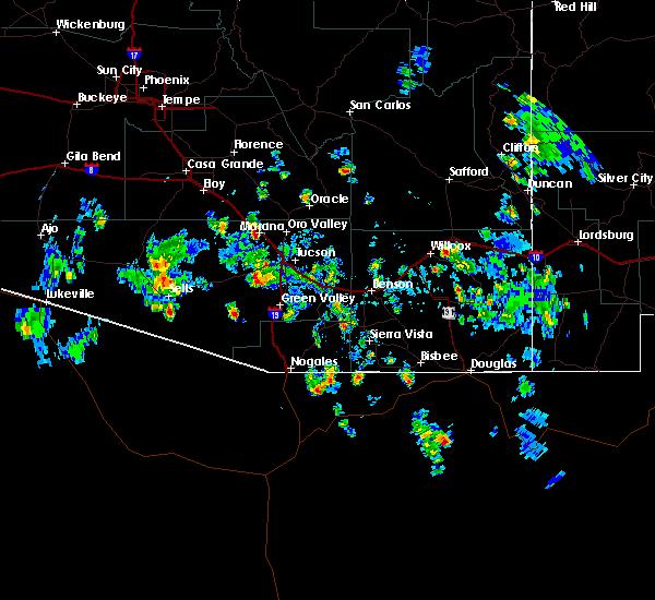 Radar Image for Severe Thunderstorms near Marana, AZ at 8/25/2015 2:28 PM MST