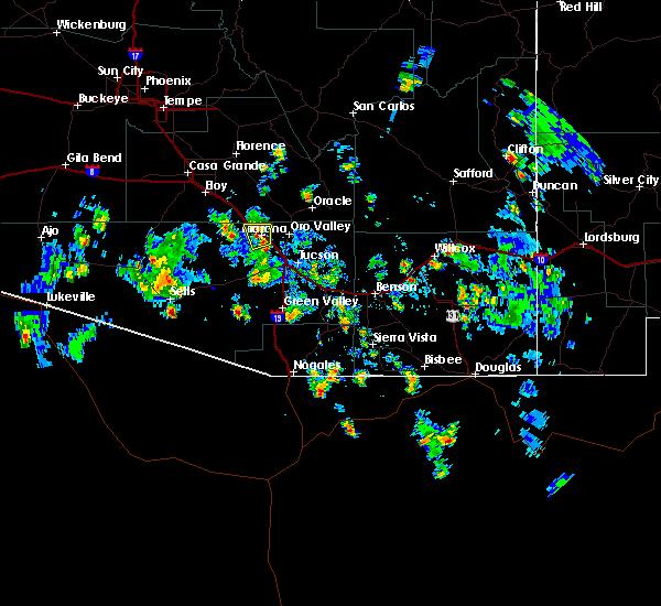 Radar Image for Severe Thunderstorms near Marana, AZ at 8/25/2015 2:40 PM MST