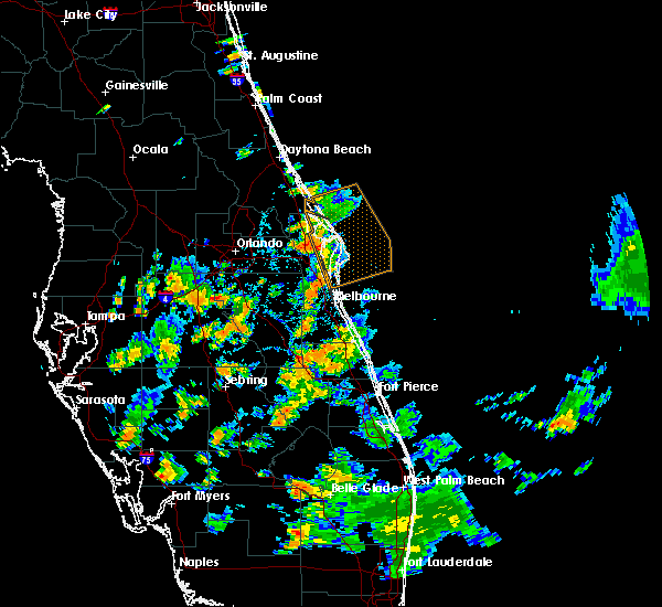 Radar Image for Severe Thunderstorms near Buenaventura Lakes, FL at 8/26/2015 4:16 PM EDT
