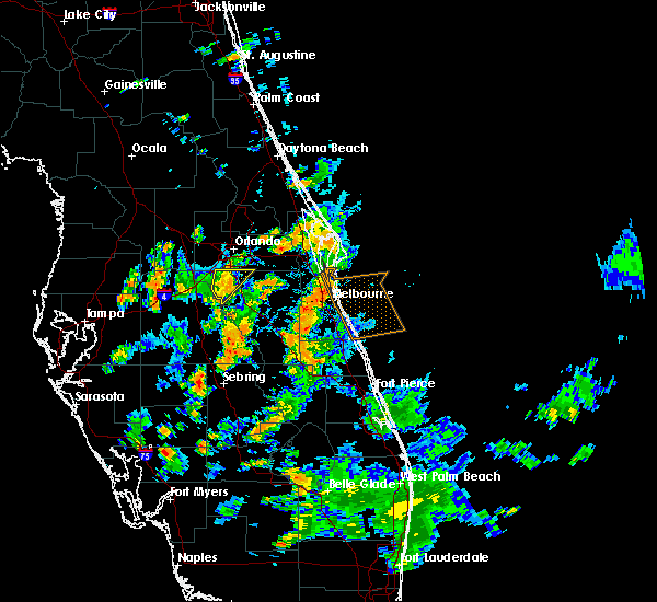 Radar Image for Severe Thunderstorms near Buenaventura Lakes, FL at 8/26/2015 4:41 PM EDT