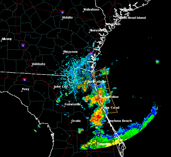 Radar Image for Severe Thunderstorms near St. Augustine South, FL at 8/26/2015 7:00 PM EDT