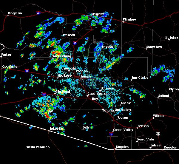 Radar Image for Severe Thunderstorms near Rock House, AZ at 8/27/2015 2:45 PM MST