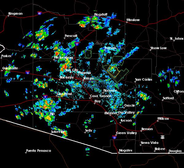 Radar Image for Severe Thunderstorms near Rock House, AZ at 8/27/2015 3:04 PM MST