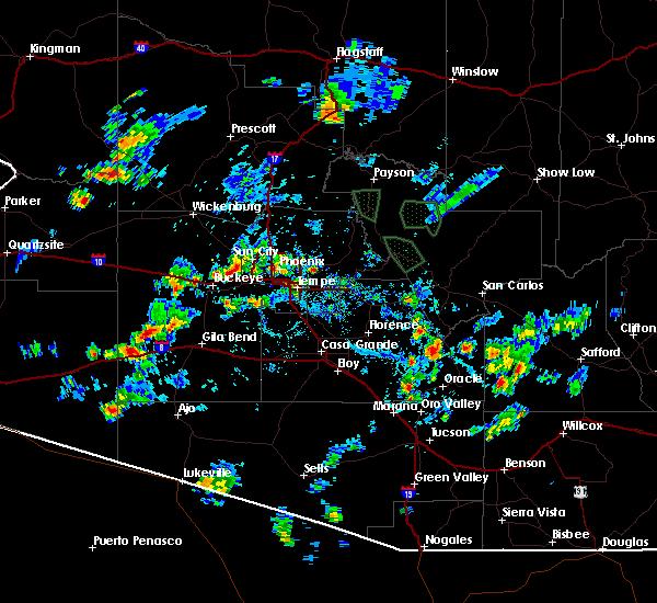 Radar Image for Severe Thunderstorms near Goodyear, AZ at 8/27/2015 4:26 PM MST