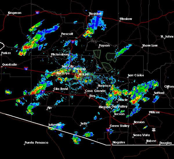 Radar Image for Severe Thunderstorms near Goodyear, AZ at 8/27/2015 4:44 PM MST