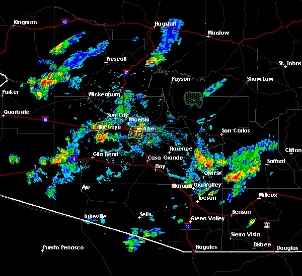 Radar Image for Severe Thunderstorms near Goodyear, AZ at 8/27/2015 5:00 PM MST