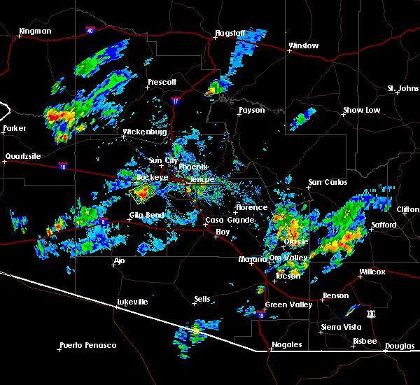 Radar Image for Severe Thunderstorms near Goodyear, AZ at 8/27/2015 5:19 PM MST