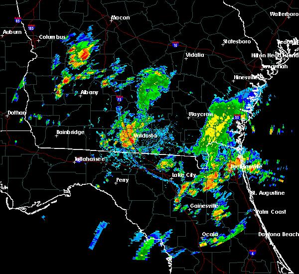 Radar Image for Severe Thunderstorms near Lake Park, GA at 8/28/2015 5:06 PM EDT