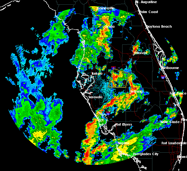 Radar Image for Severe Thunderstorms near Bartow, FL at 8/29/2015 5:59 PM EDT