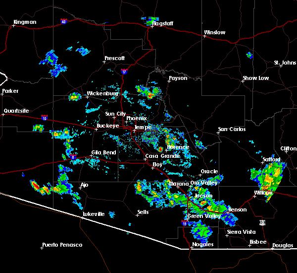 Radar Image for Severe Thunderstorms near Florence, AZ at 8/29/2015 5:54 PM MST