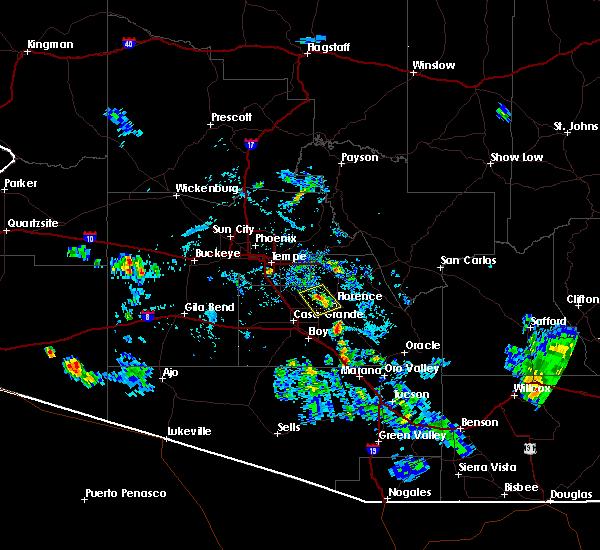 Radar Image for Severe Thunderstorms near Florence, AZ at 8/29/2015 6:23 PM MST