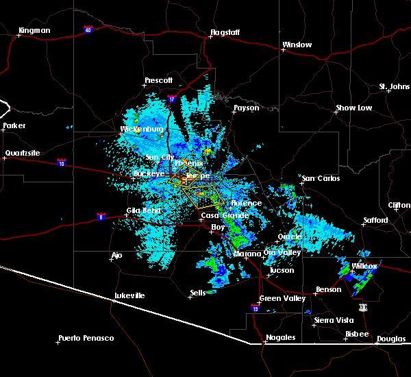 Radar Image for Severe Thunderstorms near Florence, AZ at 8/29/2015 8:52 PM MST