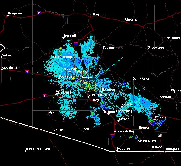 Radar Image for Severe Thunderstorms near Florence, AZ at 8/29/2015 9:12 PM MST