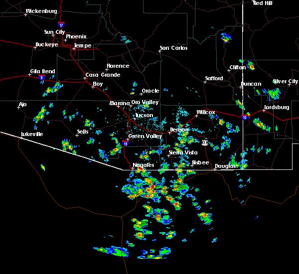 Radar Image for Severe Thunderstorms near Beyerville, AZ at 8/30/2015 1:40 PM MST