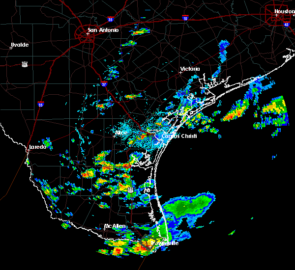Radar Image for Severe Thunderstorms near Sarita, TX at 8/31/2015 3:29 PM CDT