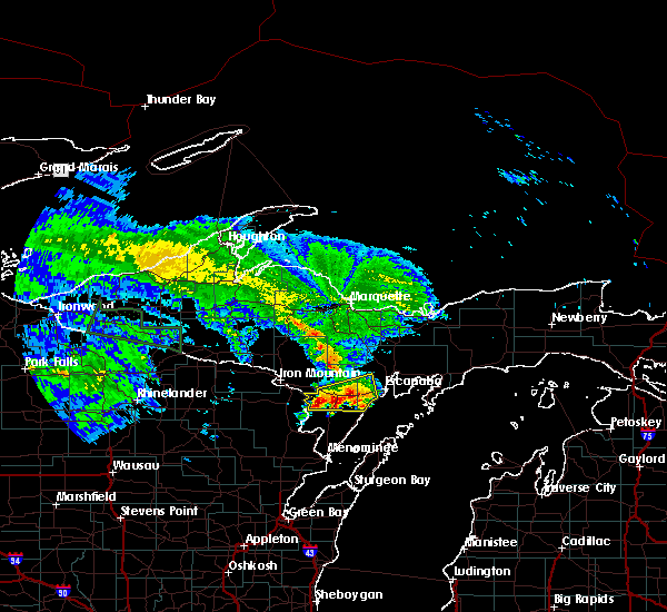 Radar Image for Severe Thunderstorms near Escanaba, MI at 9/2/2015 11:27 AM CDT