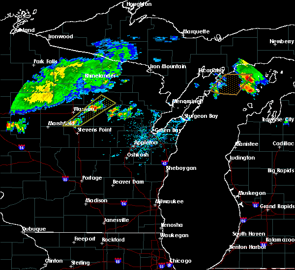 Radar Image for Severe Thunderstorms near Mosinee, WI at 9/2/2015 2:13 PM CDT