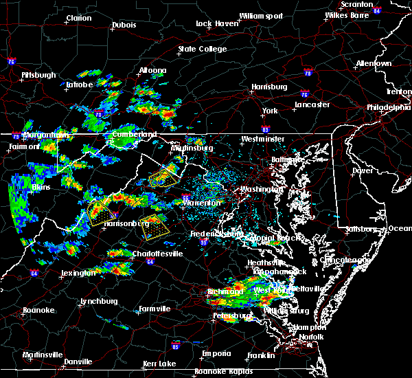Radar Image for Severe Thunderstorms near Maurertown, VA at 9/2/2015 3:28 PM EDT