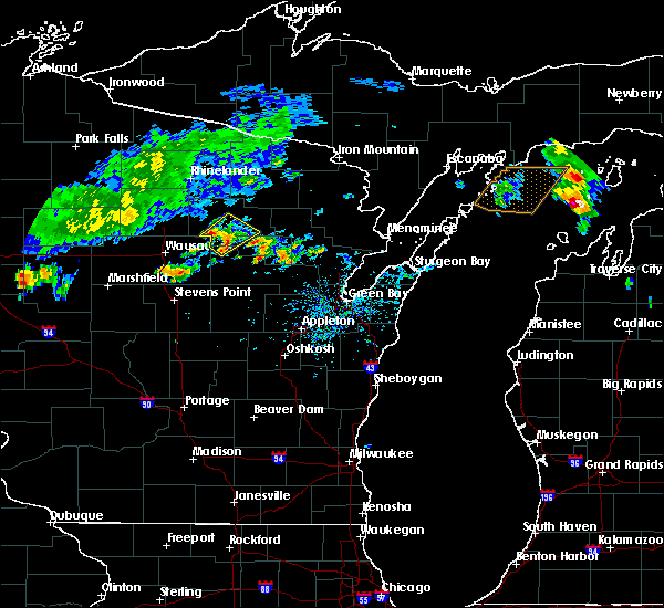 Radar Image for Severe Thunderstorms near Aniwa, WI at 9/2/2015 2:32 PM CDT