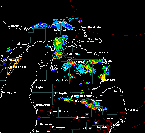 Radar Image for Severe Thunderstorms near Au Sable, MI at 9/2/2015 4:41 PM EDT