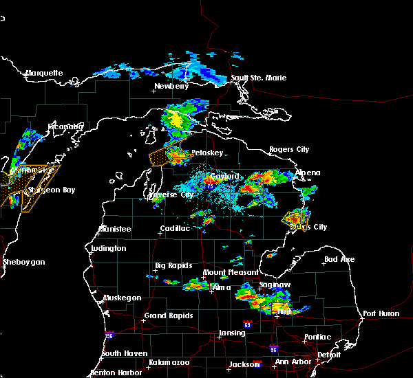 Radar Image for Severe Thunderstorms near Au Sable, MI at 9/2/2015 4:57 PM EDT