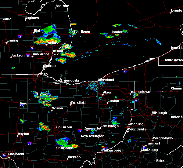 Radar Image for Severe Thunderstorms near New Riegel, OH at 9/2/2015 6:25 PM EDT