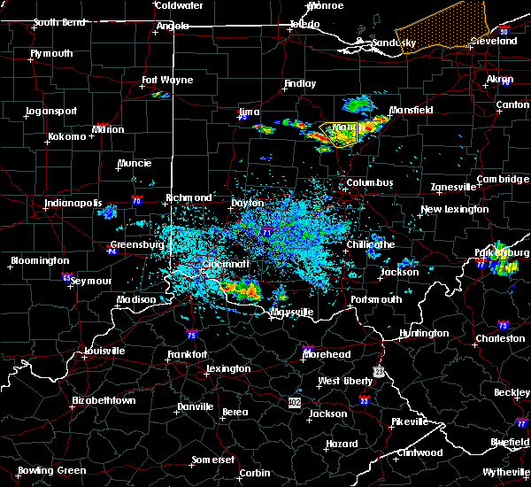 Radar Image for Severe Thunderstorms near La Rue, OH at 9/2/2015 7:44 PM EDT