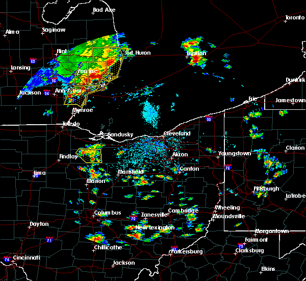Radar Image for Severe Thunderstorms near Green Springs, OH at 9/3/2015 2:25 PM EDT